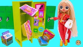 School Locker Surprise Blind Bags with OMG + Big Sister LOL Surprise Video