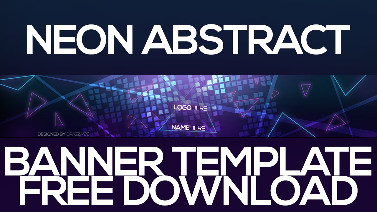Neon Abstract YouTube Banner Template