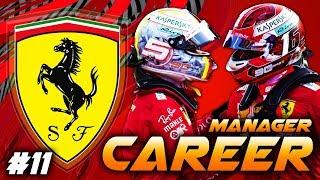 F1 2019 FERRARI MANAGER CAREER - GOING AGGRESSIVE AT SINGAPORE?! #11