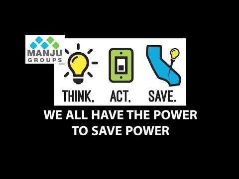 Save Electricity - Manju group | Manju groups | Manju foundation | Manju Foundations
