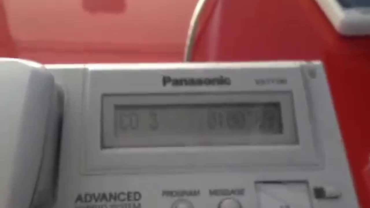 panasonic kx t7730 corded phone error - can anyone fix it?