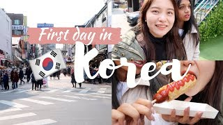 Exploring Hongdae, Street Food + Best Cheesecake Ever | Korea Vlog #2