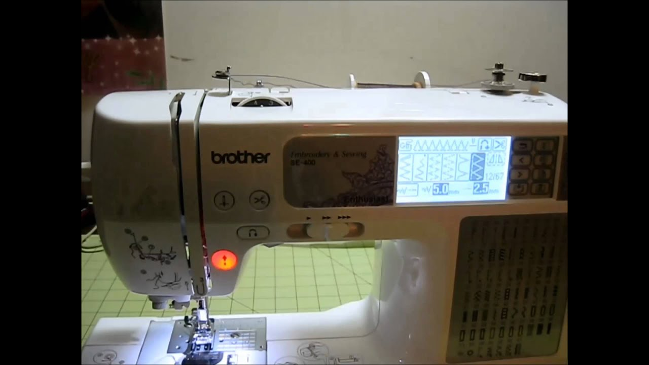 How To Wind A Bobbin On The Brother Se400 Embroidery And Sewing Machine Beginner You