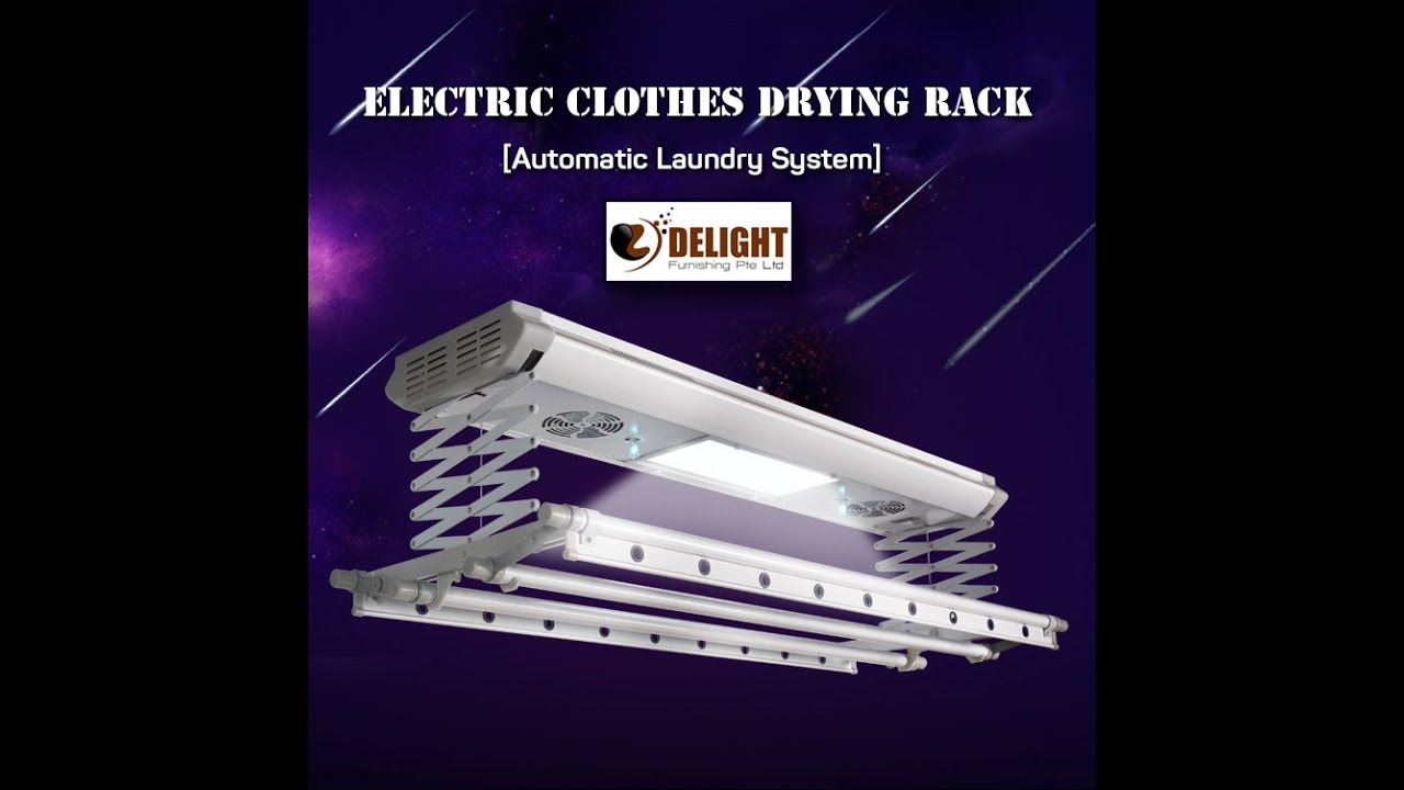 delight furnishing electric clothes drying rack installation youtube
