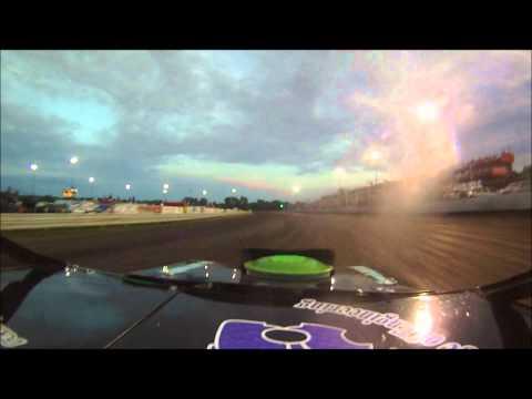 Adams County Speedway Tony Rost Sport mod heat race win 7/2/11