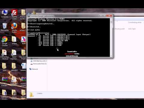 Convert a wav file to AD4 format file using Command Prompt- www.buildcircuit.com