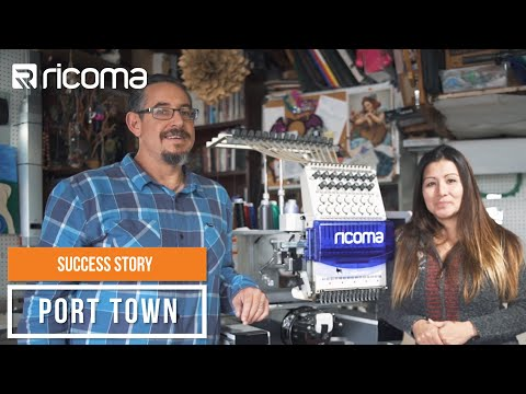 ricoma-reviews:-port-town-success-story-|-ricoma-tc---1501-embroidery-machine