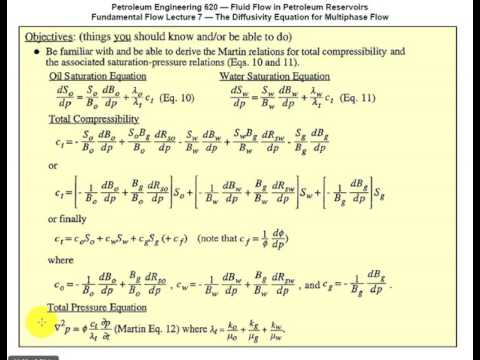 Differential Equations - Fluid Flow in Petroleum Reservoirs