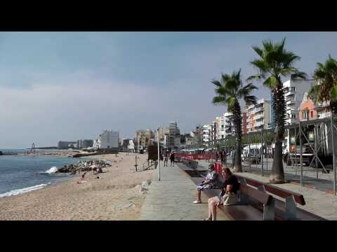 Beach and Promenade, Blanes, Costa Brave, Spain