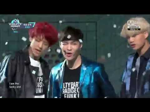 "Live HD | 160609 EXO ""Lucky One"" (Comeback Stage) @ MNET 엠! 카운트다운"