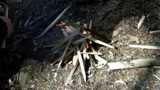 glock 78 field knife one stick fire