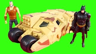 Batman The Dark Knight Rises Battle At The Bank Playset Bane Tries To Steal Money Tumbler Stops Him