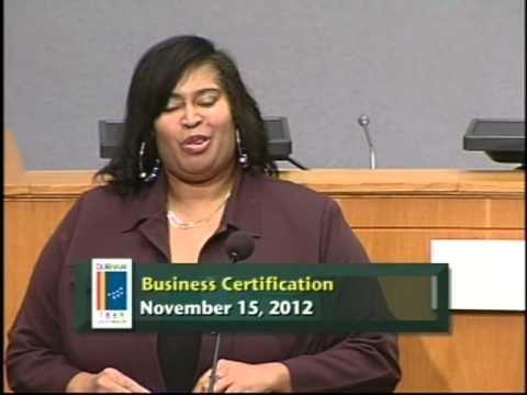Business Certification Workshop Nov. 15, 2012