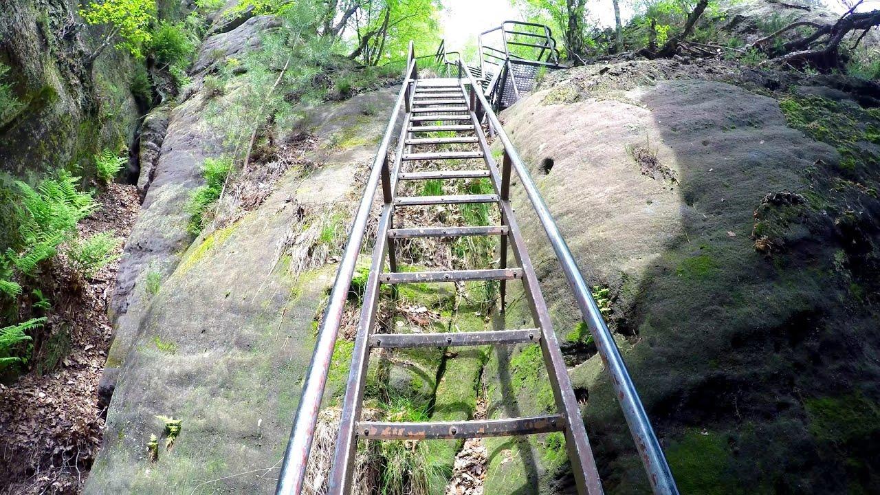 Klettersteig Sächsische Schweiz : Pov aufstieg schrammsteine über mittelwinkel stiege klettersteige