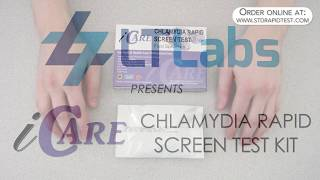 How to use an iCare Chlamydia test kit  -  by LT Labs