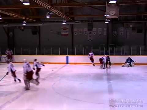 Sudbury Barons Vs North Bay Trappers Goalie Fight