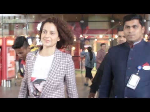 Queen of Bollywood KANGANA RANAUT spotted at the airport post Cannes 2018