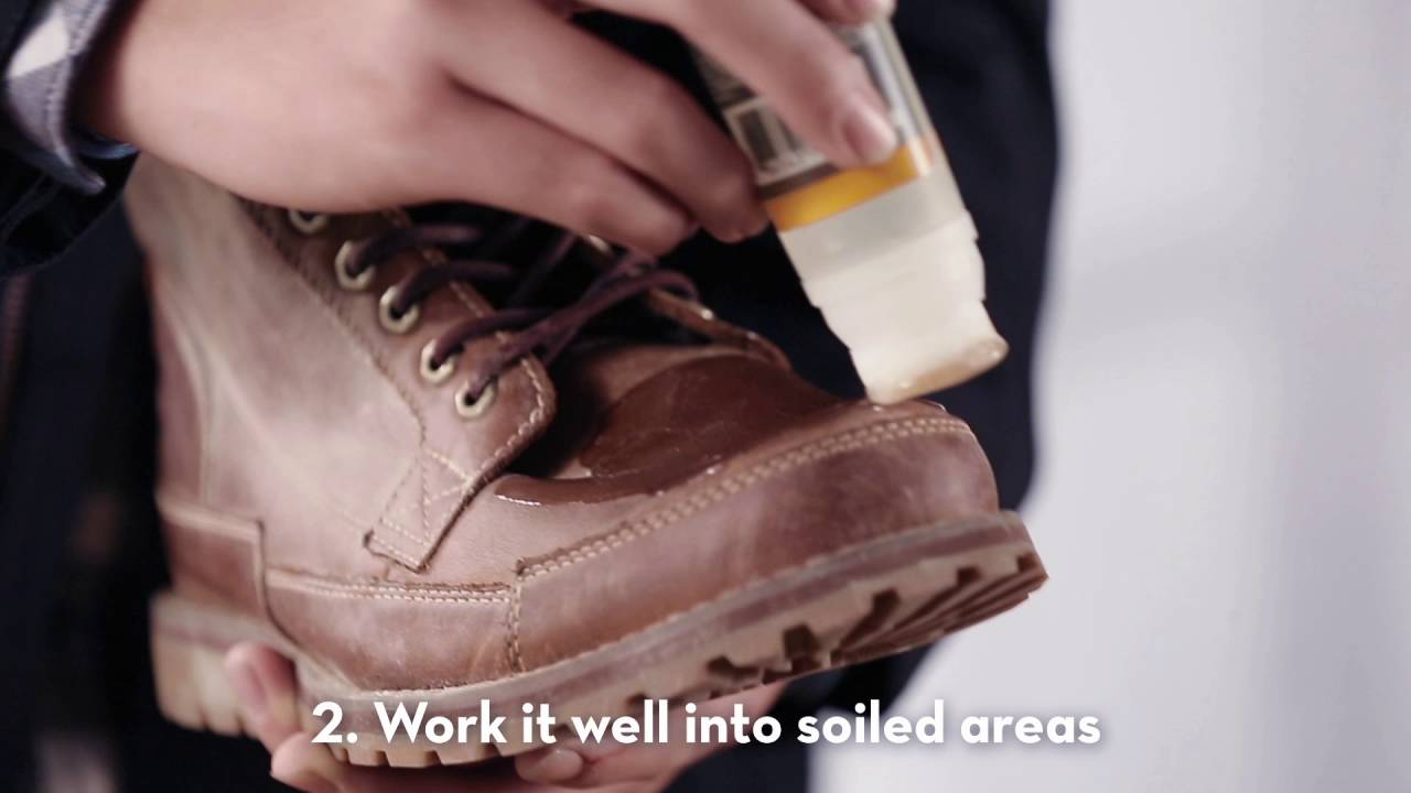 Actualizar tarifa máquina de coser  Timberland - Guide to Take Care of Your Leather Products - YouTube