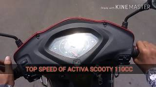 Top speed of Activa 110CC Scooty, Mileage
