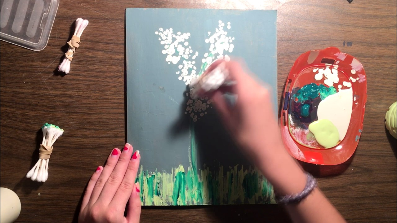 Painting Without Brushes! A Q-Tip Art Guide