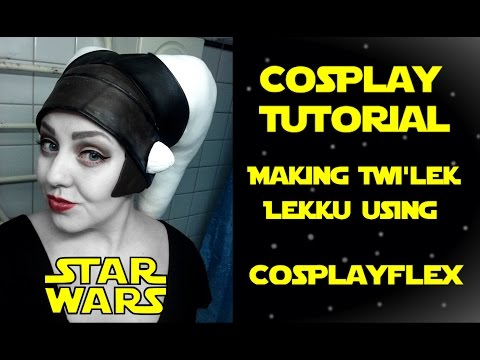How to make Star Wars Twilek Lekku in CosplayFlex (tutorial)