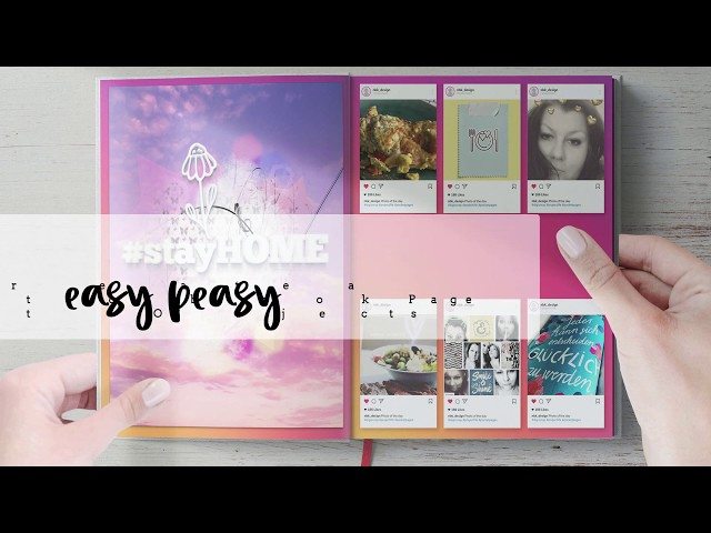 Easy Peasy Templates - How to create a Instagram Photobook Page using Smart Objects