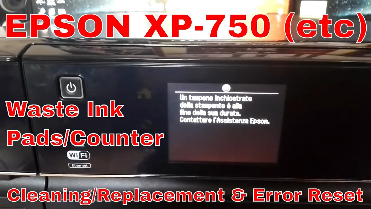 epson xp 750 ink pad reset free