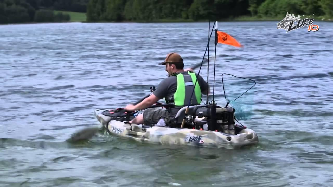 Feelfree lure 10 fishing kayak overview youtube for 10 fishing kayak