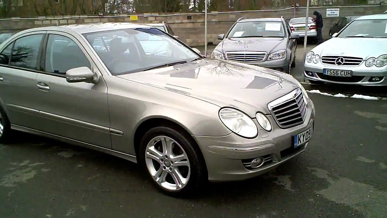 2009 mercedes e280 cdi avantgarde auto diesel saloon silver youtube. Black Bedroom Furniture Sets. Home Design Ideas