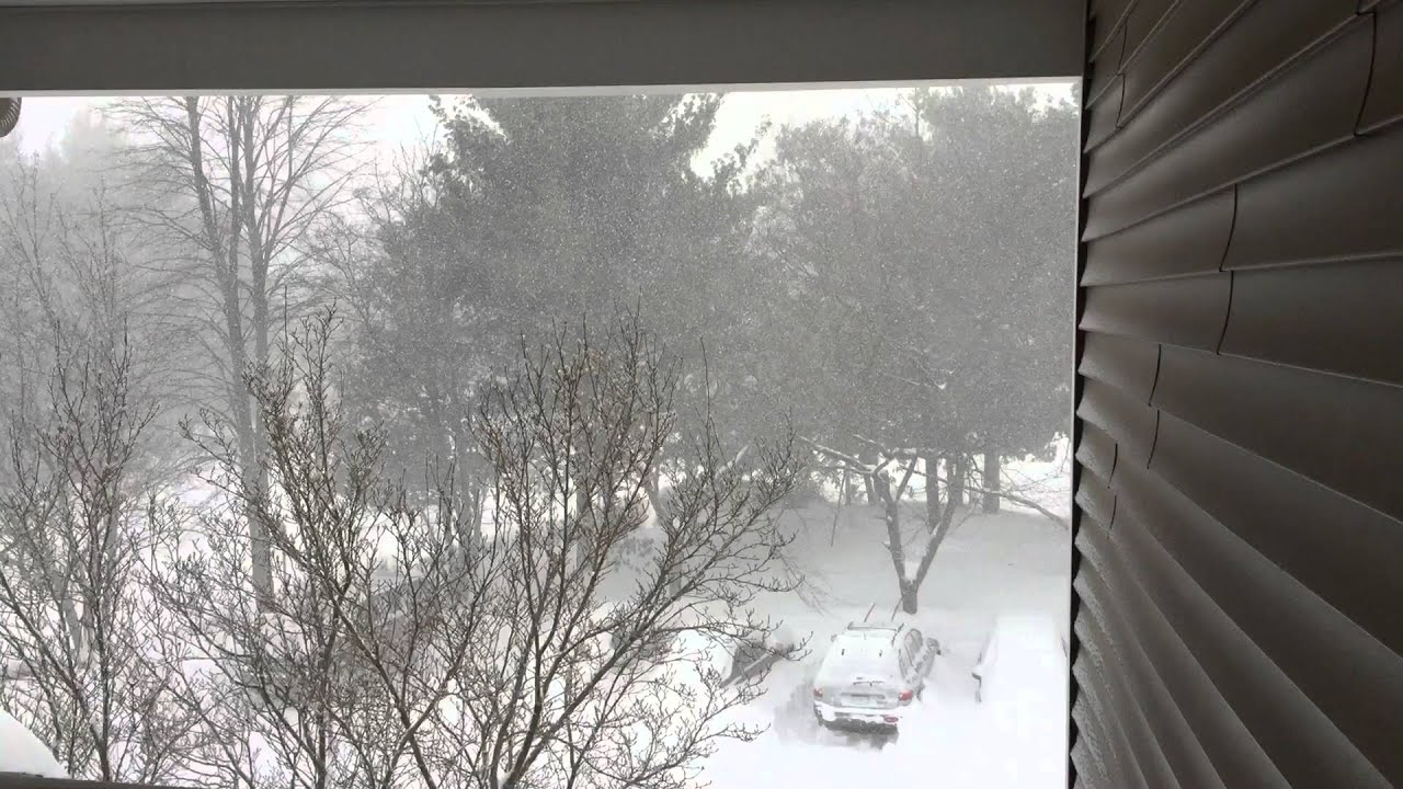 Blizzard 2016 Looking Out My Front Door Youtube