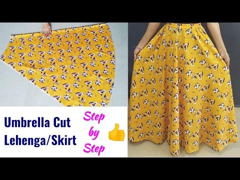 Download Umbrella Cut Lehenga/Skirt Cutting and Stitching Long Skirt Cutting and Stitching Lehenga cutting