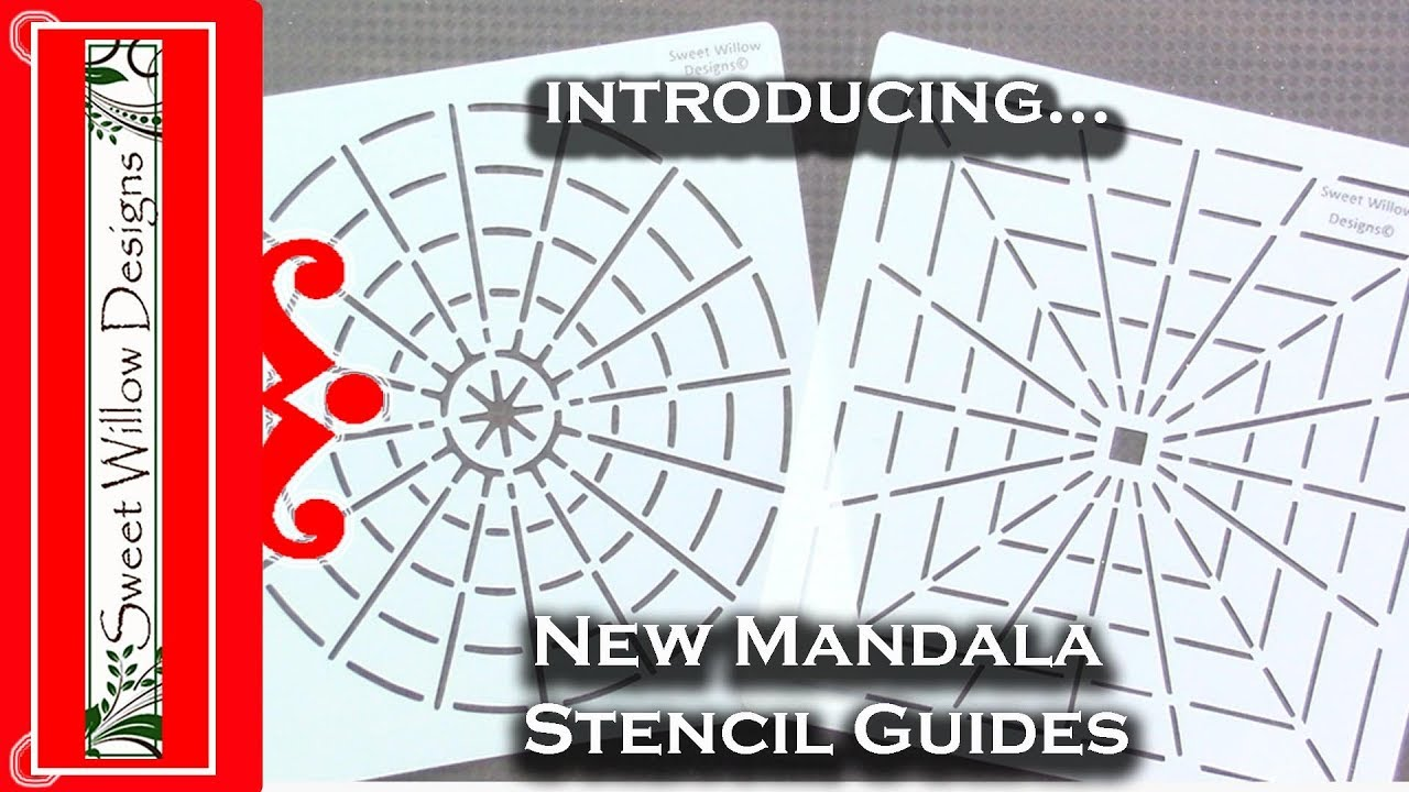 1 introducing mandala stencil guides small set 5 75 x 5 75 youtube