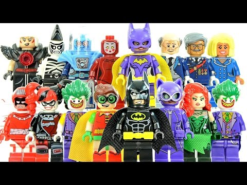 Batman Movie Minifigures Unofficial Lego Set w/ Joker Harley Quinn Batgirl Robin & Catwoman