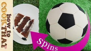 Spinning Football CAKE (soccer) HOW RIDICULOUS collab!