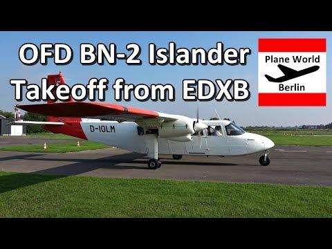 "OFD Britten-Norman BN-2 ""Islander"" takeoff from Heide/Büsum"