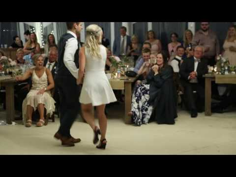 Bride and Groom's surprise first dance