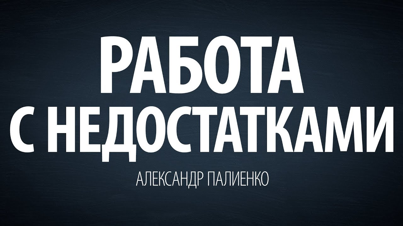 Александр Палиенко - Работа с недостатками.