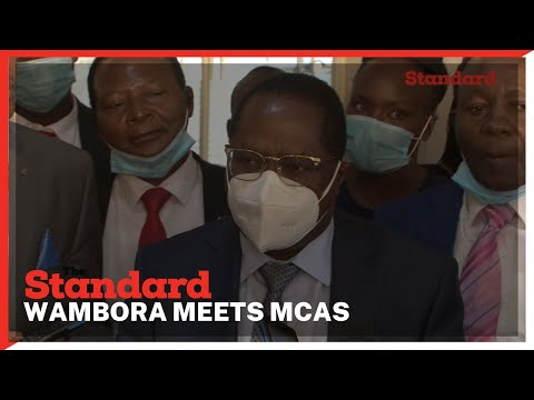 CoG Chair and Embu governor Martin Wambora meets with MCAs ahead of BBI vote