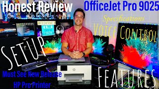 HP OfficeJet Pro9025 ALL In One Wireless Printer Setup Review Features, App, Voice Scan & Print Demo