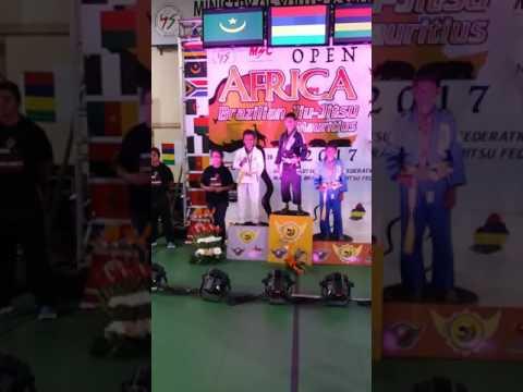 open africa brazilian jiu jitsu mauritius 2017 khaled hanena médaille d'argent