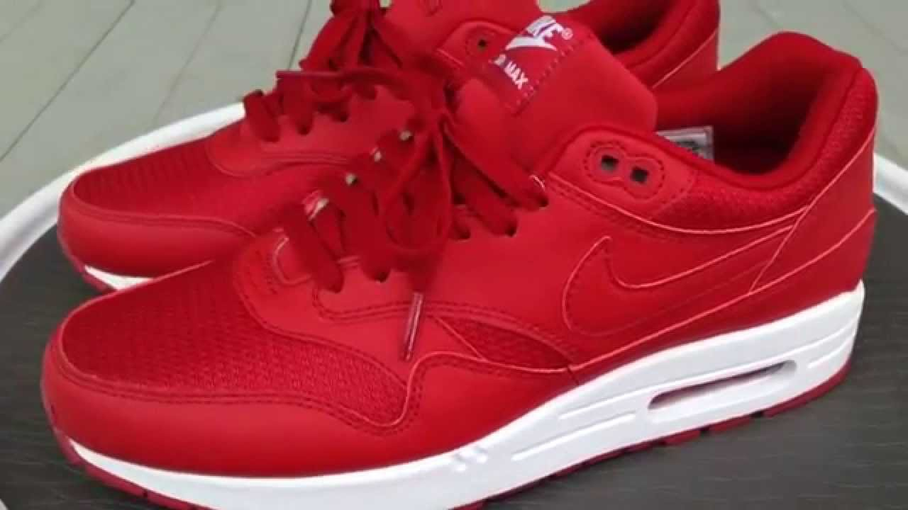 nike air max 1 id gym red review youtube. Black Bedroom Furniture Sets. Home Design Ideas