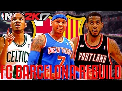 EURO LEAGUE REBUILD! | Rebuilding FC Barcelona! | NBA 2K17 MyLeague
