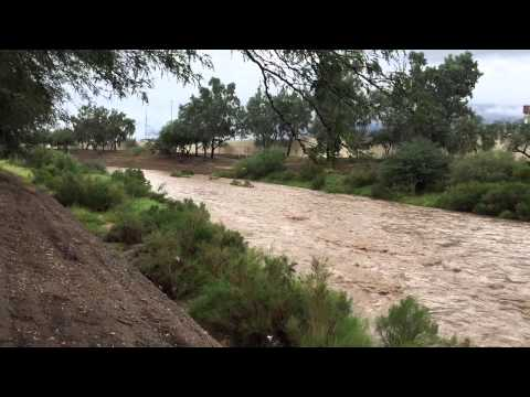 The Santa Cruz River Flows Again With Help From Today's Rain