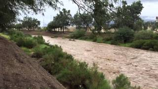 The Santa Cruz River flows again with help from today