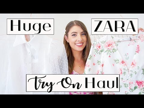 HUGE ZARA TRY ON HAUL *spring summer 2019 outfits*