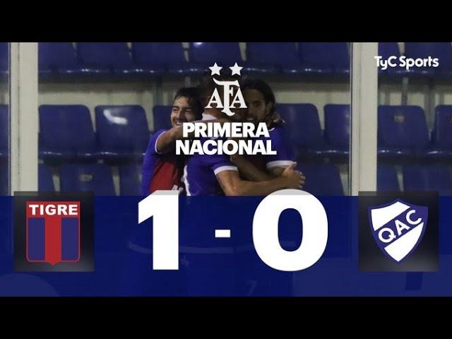 Tigre 1-0 Quilmes   Primera Nacional