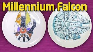 Как нарисовать Тысячелетний сокол (Millennium Falcon). Star Wars на тарелке.