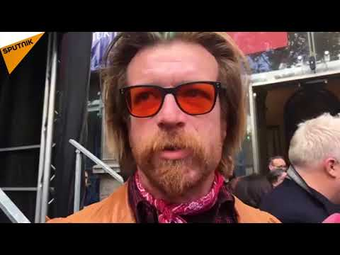 Jesse Hughes, leader des Eagles of Death Metal, Paris, le 13 novembre 2017