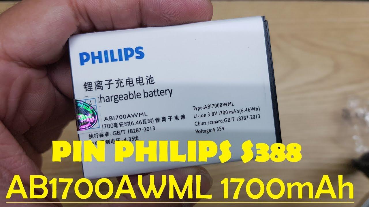 Pin Philips S388 AB1700AWML 1700mAh Chất Lượng Gía Hấp Dẫn Mua Ngay.