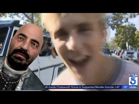 Jake Paul's Interview But Every Time It's Cringy Santiago Appears And Says His Name
